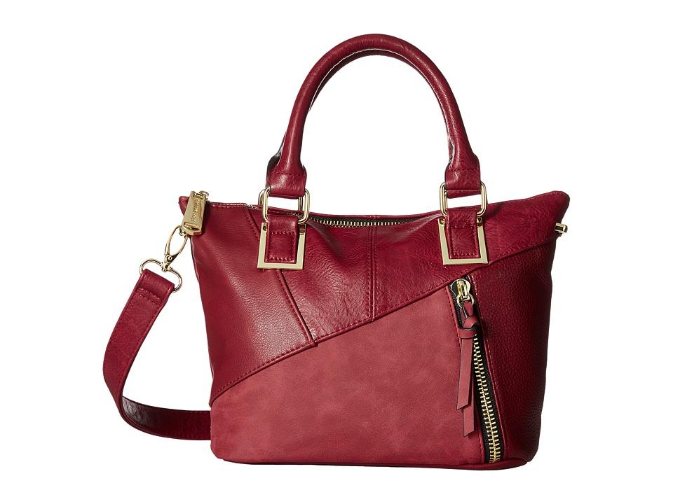 Steve Madden - BJamba Mixed Media Mini (Brick Red) Cross Body Handbags
