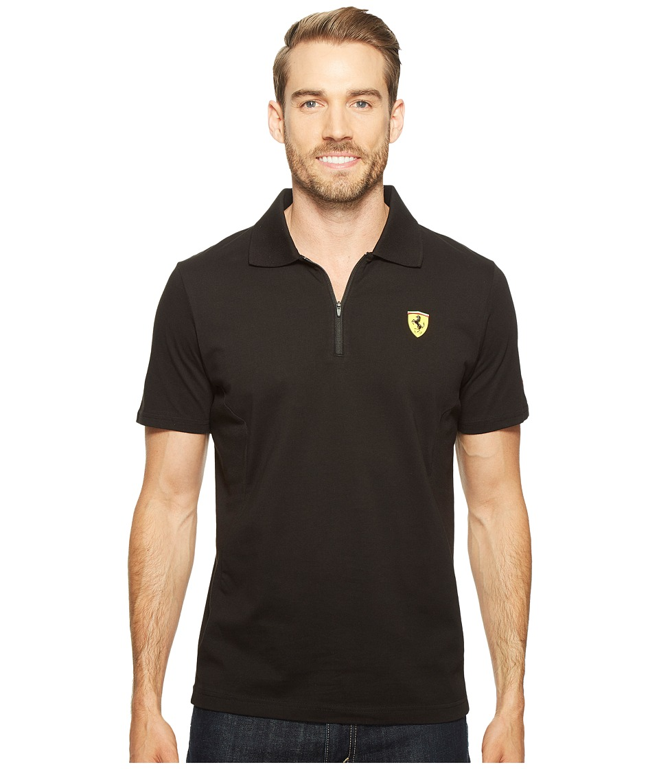 PUMA - SF Polo 2 (Cotton Black) Men's Short Sleeve Pullover