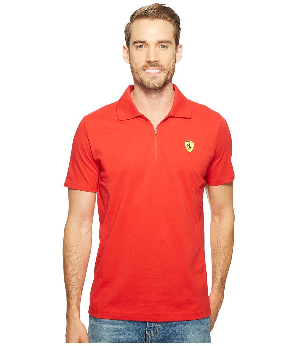 PUMA - SF Polo 2 (Rosso Corsa) Men's Short Sleeve Pullover