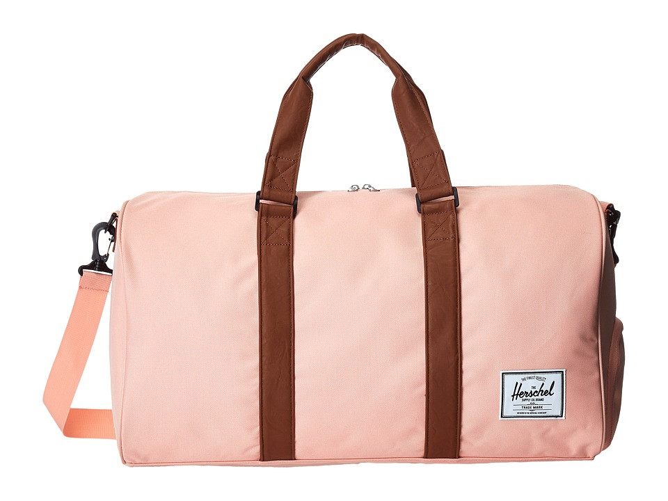 Herschel Supply Co. - Novel (Apricot Blush/Tan Synthetic Leather) Duffel Bags