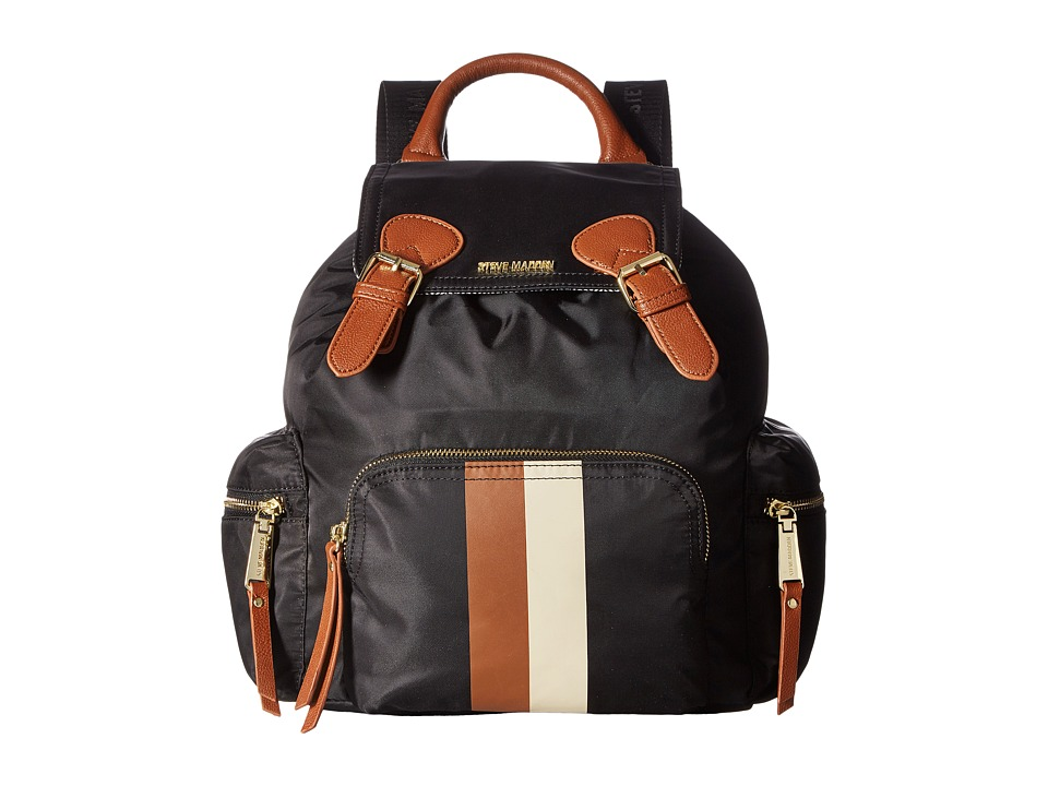 Steve Madden - BFoxx Nylon Backpack (Black/Cognac) Backpack Bags