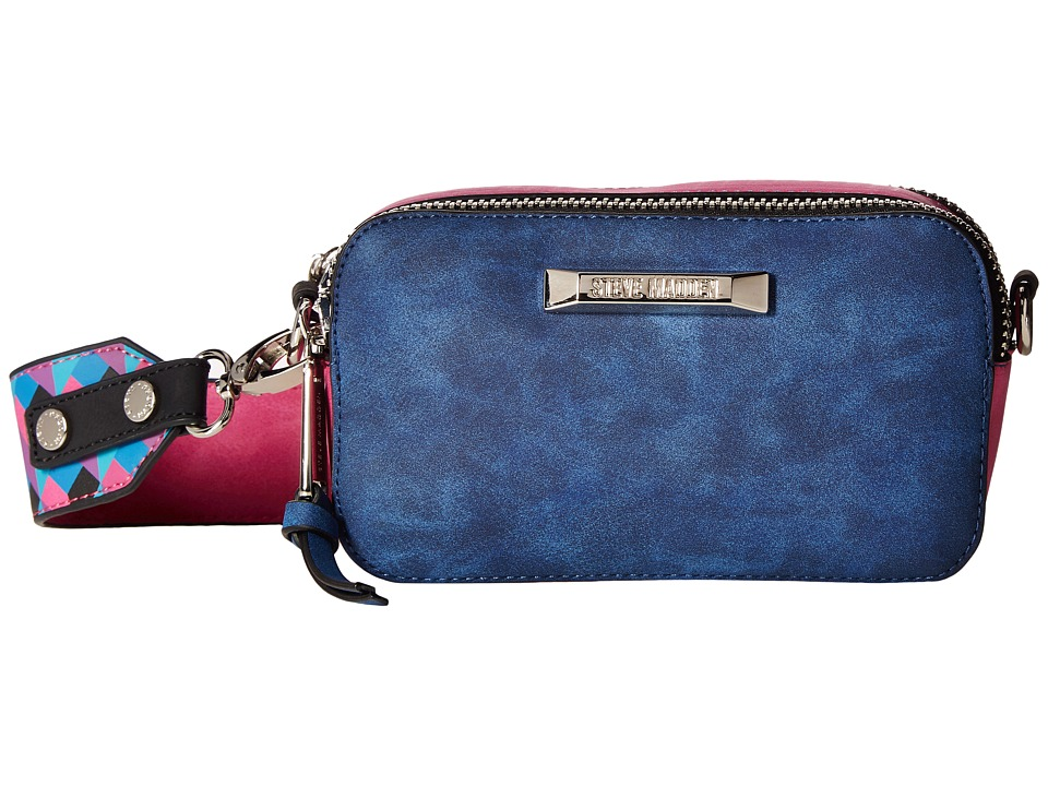 Steve Madden - BWallace Color Block Camera Bag (Blue/Teal/Pink/Black) Computer Bags