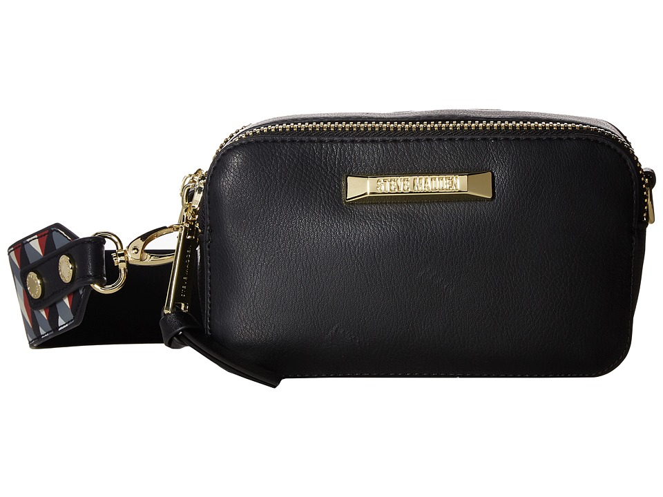 Steve Madden - BWallace Color Block Camera Bag (Black) Computer Bags