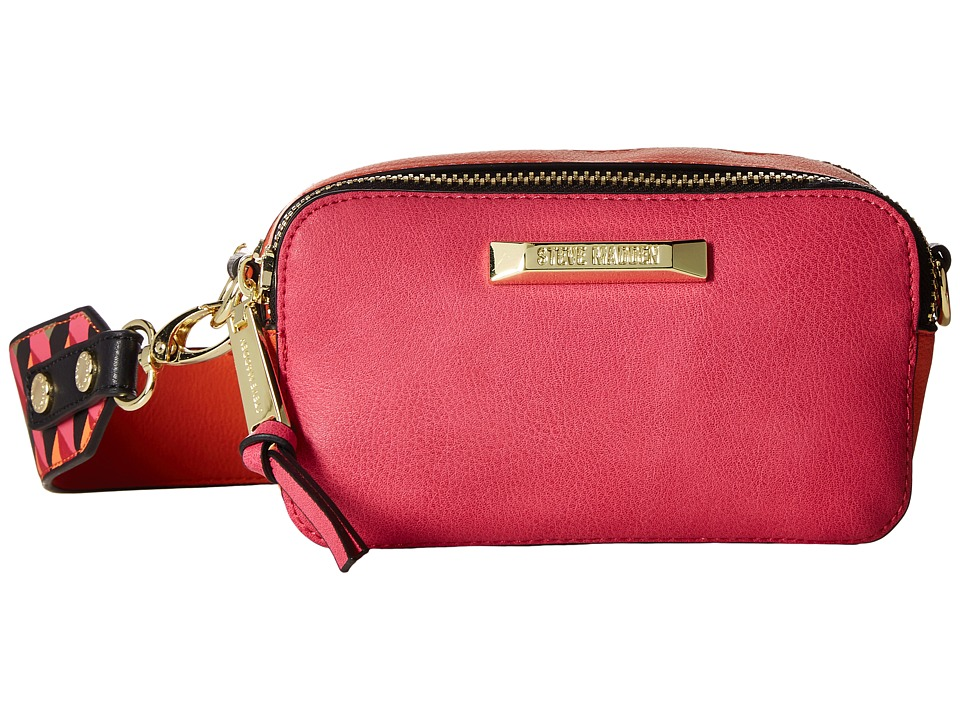 Steve Madden - BWallace Color Block Camera Bag (Pink/Taupe/Orange/Black) Computer Bags