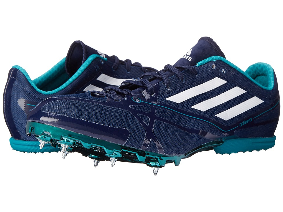 adidas - Adizero MD 2 (Collegiate Navy/White/EQT Green) Athletic Shoes