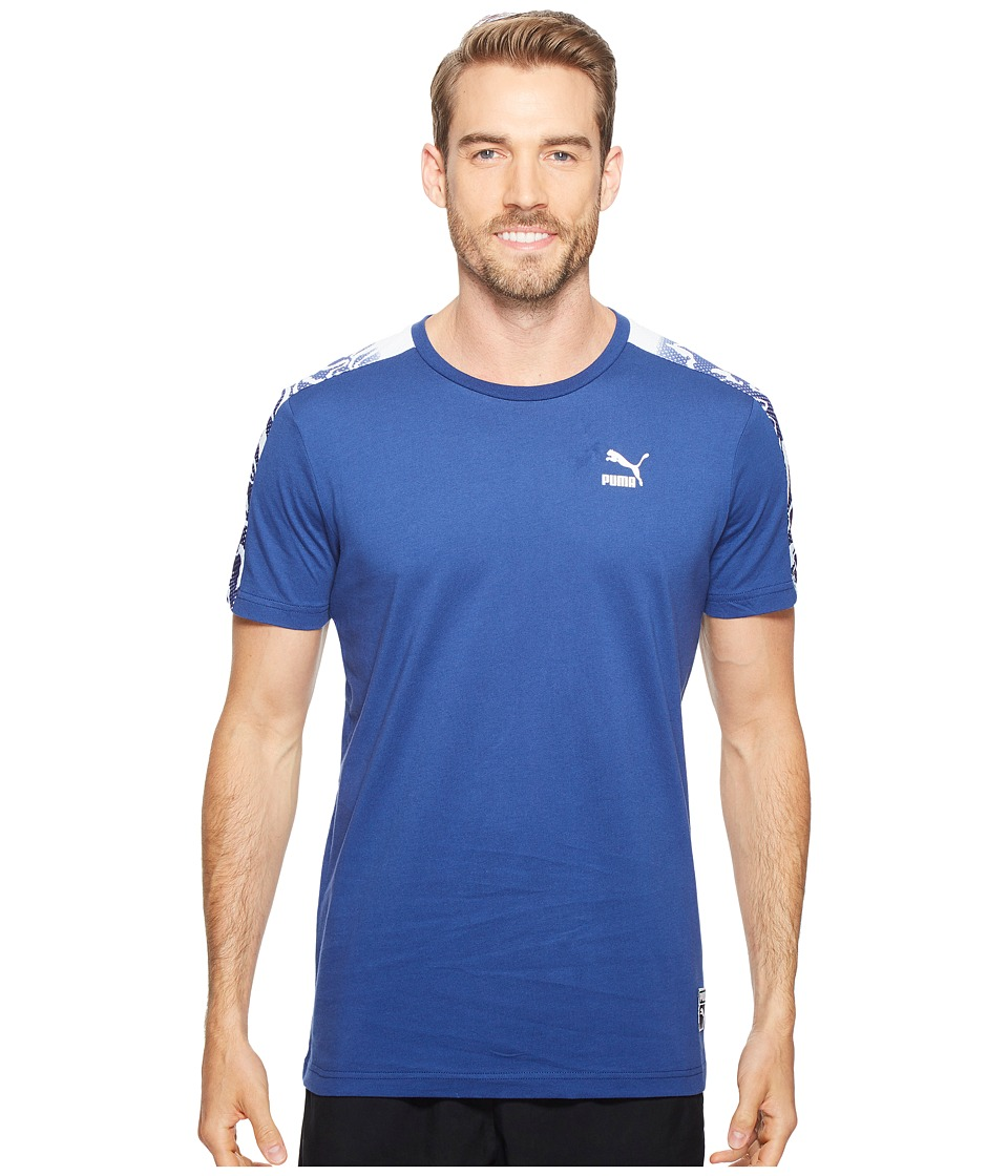 PUMA - Color Block Tee (Twilight Blue) Men's T Shirt