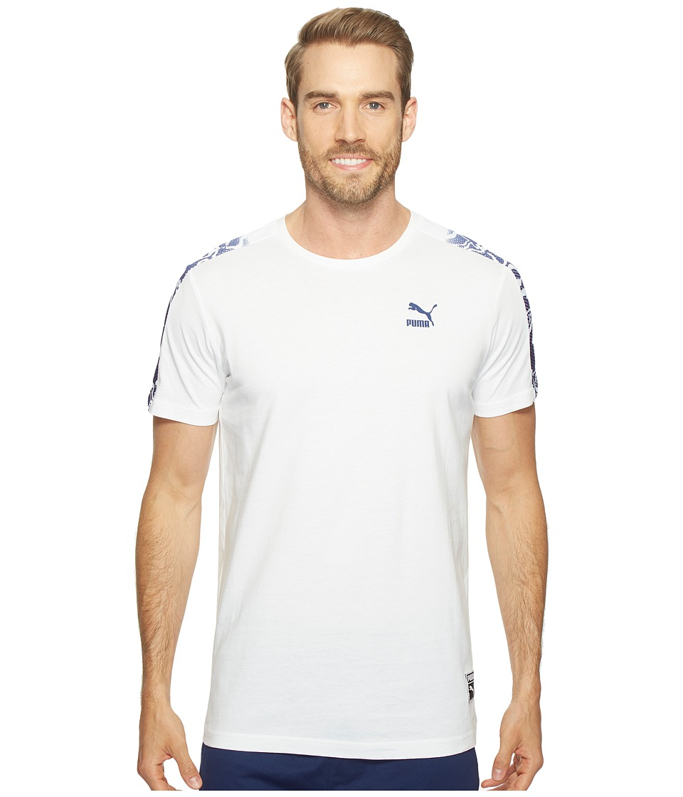 PUMA - Color Block Tee (PUMA White) Men's T Shirt