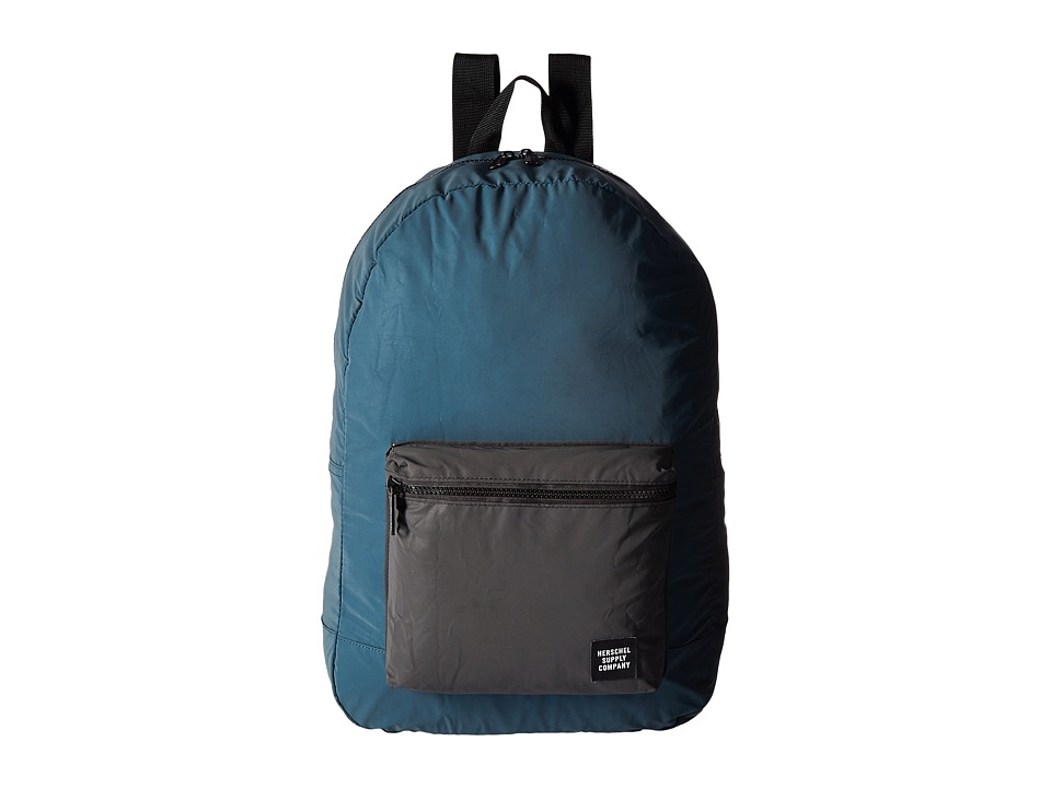 Herschel Supply Co. - Packable Daypack (Blue Reflective/Black Reflective) Backpack Bags