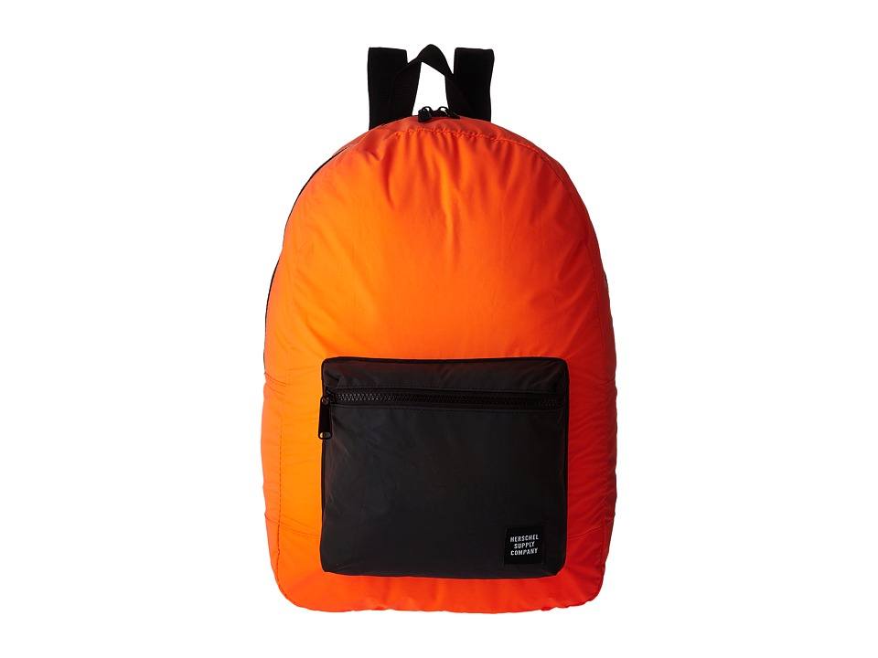 Herschel Supply Co. - Packable Daypack (Neon Orange Reflective/Black Reflective) Backpack Bags