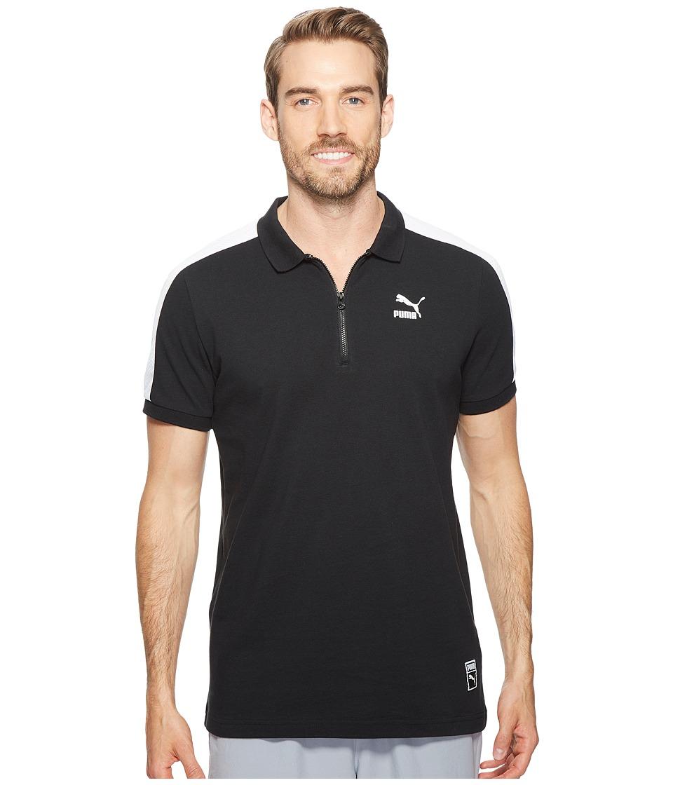 PUMA - Color Block Polo (PUMA Black) Men's T Shirt