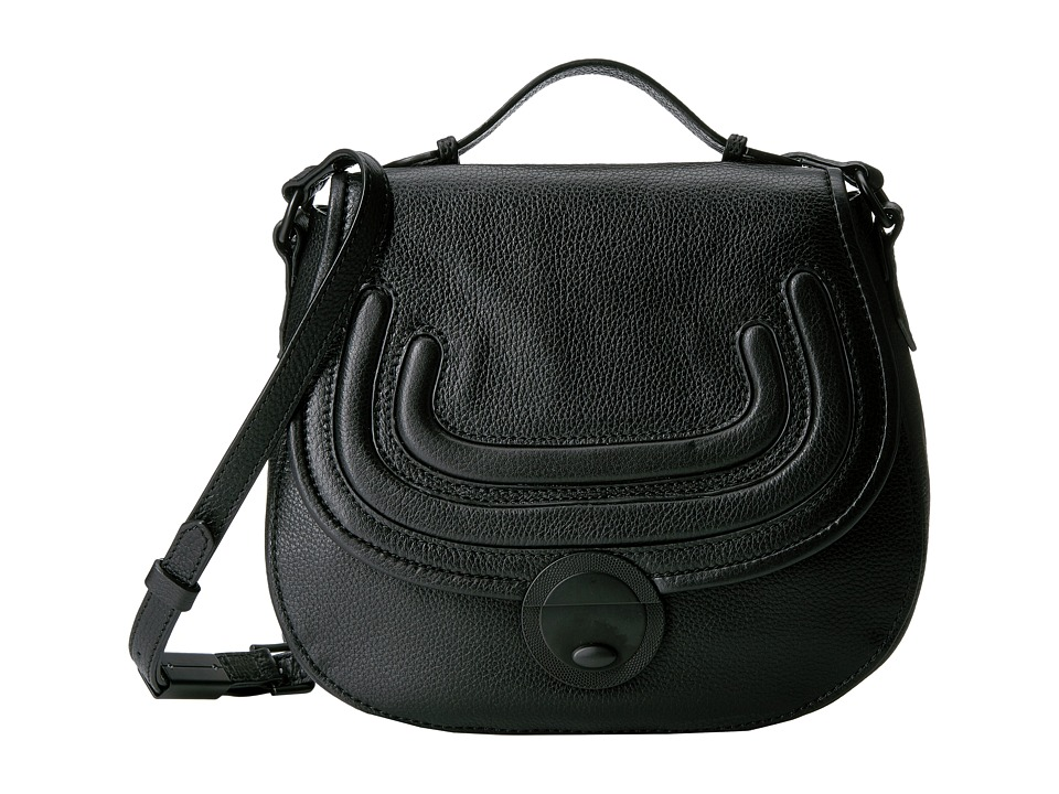 Foley & Corinna - Stephi Saddle Bag (Black) Handbags