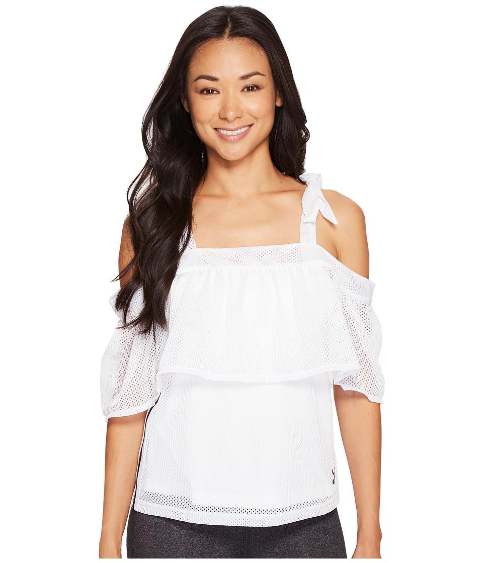 PUMA - Xtreme Off the Shoulder Tee (PUMA White) Women's T Shirt