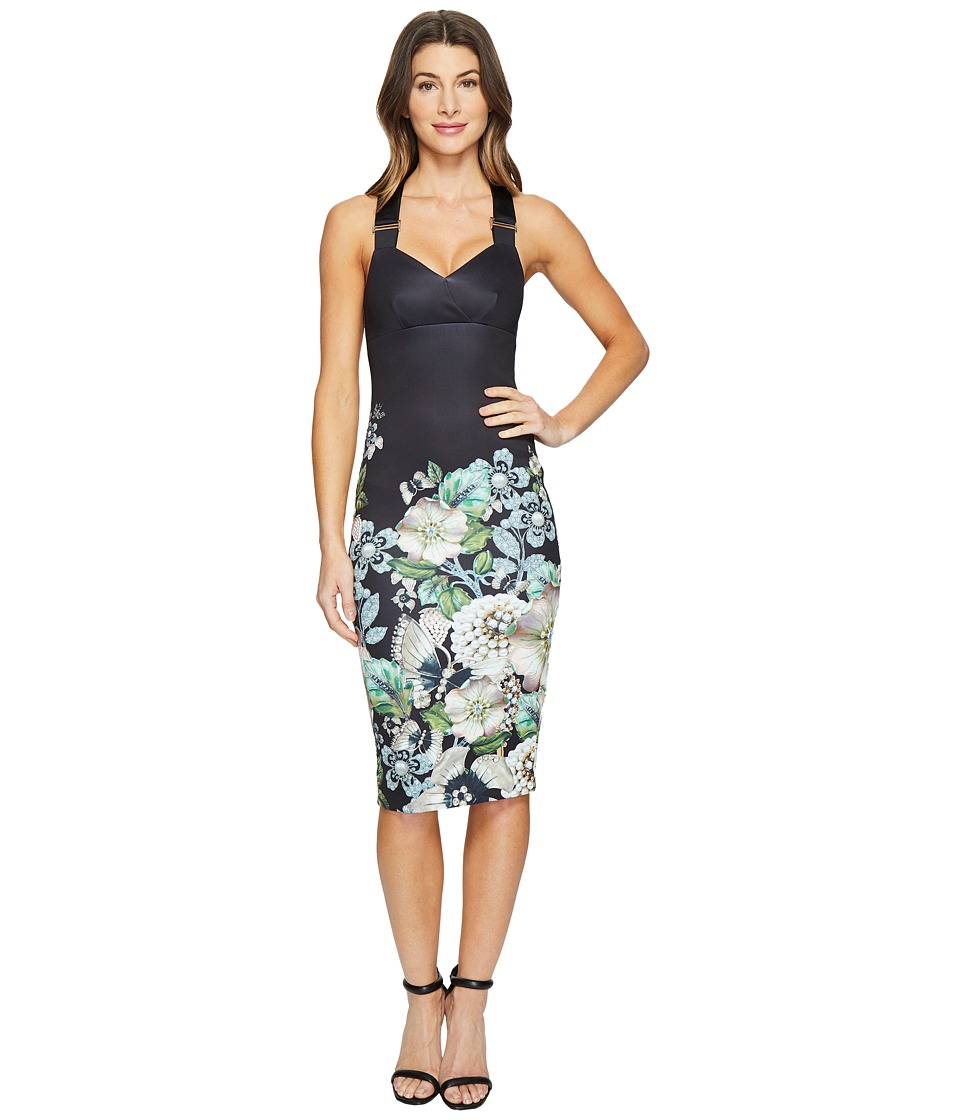 Ted Baker - Jayer Gem Gardens Bodycon Dress (Black) Women's Dress