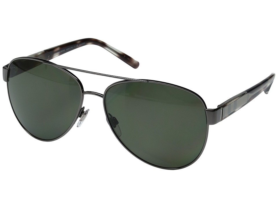 Burberry - 0BE3084 (Gunmetal/Gray Gradient) Fashion Sunglasses
