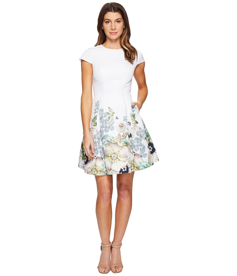 Ted Baker - Yvetta Gem Garden Bodycon Dress (Ivory) Women's Dress