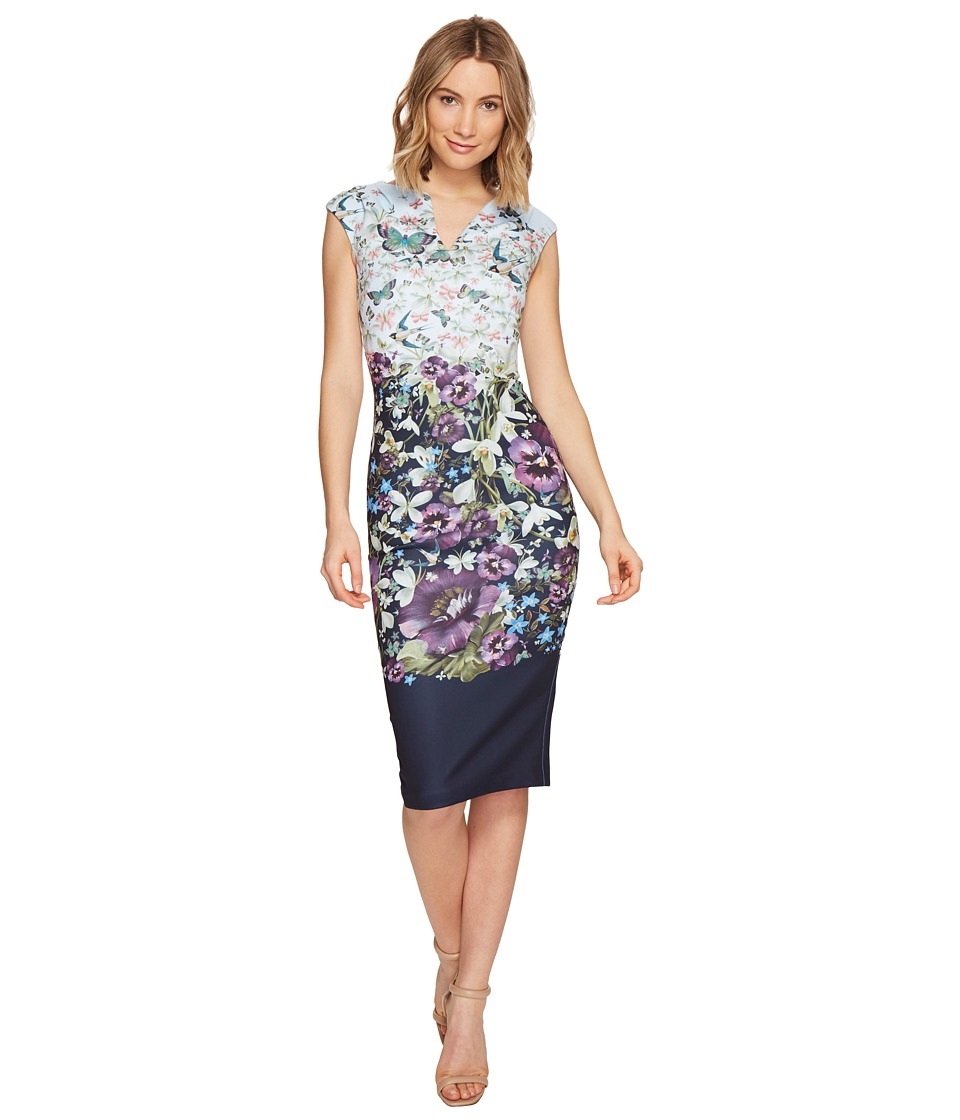 Ted Baker - Tiha Enchantment Bodycon Dress (Dark Blue) Women's Dress