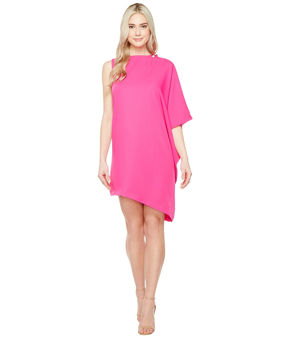 Ted Baker - Aubreey Oversized Drape Front Dress (Fuchsia) Women's Dress