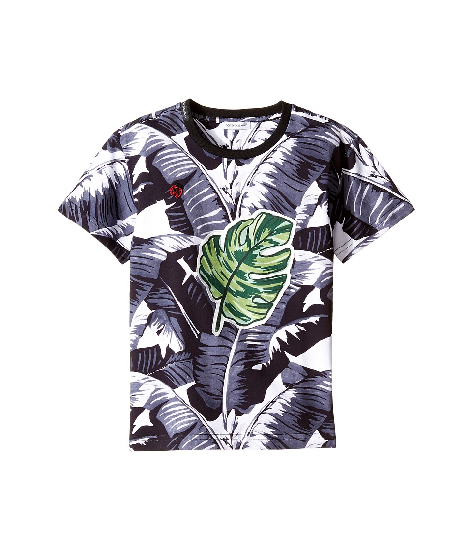 Dolce & Gabbana Kids - Banana Leaf T-Shirt (Toddler/Little Kids) (Black Print) Boy's T Shirt