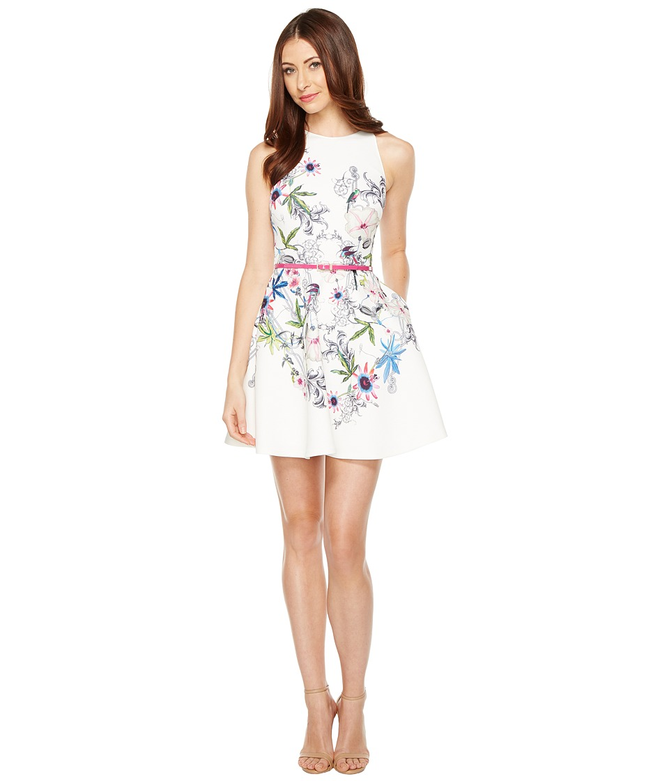 Ted Baker - Samm Passion Flower Skater Dress (Ivory) Women's Dress