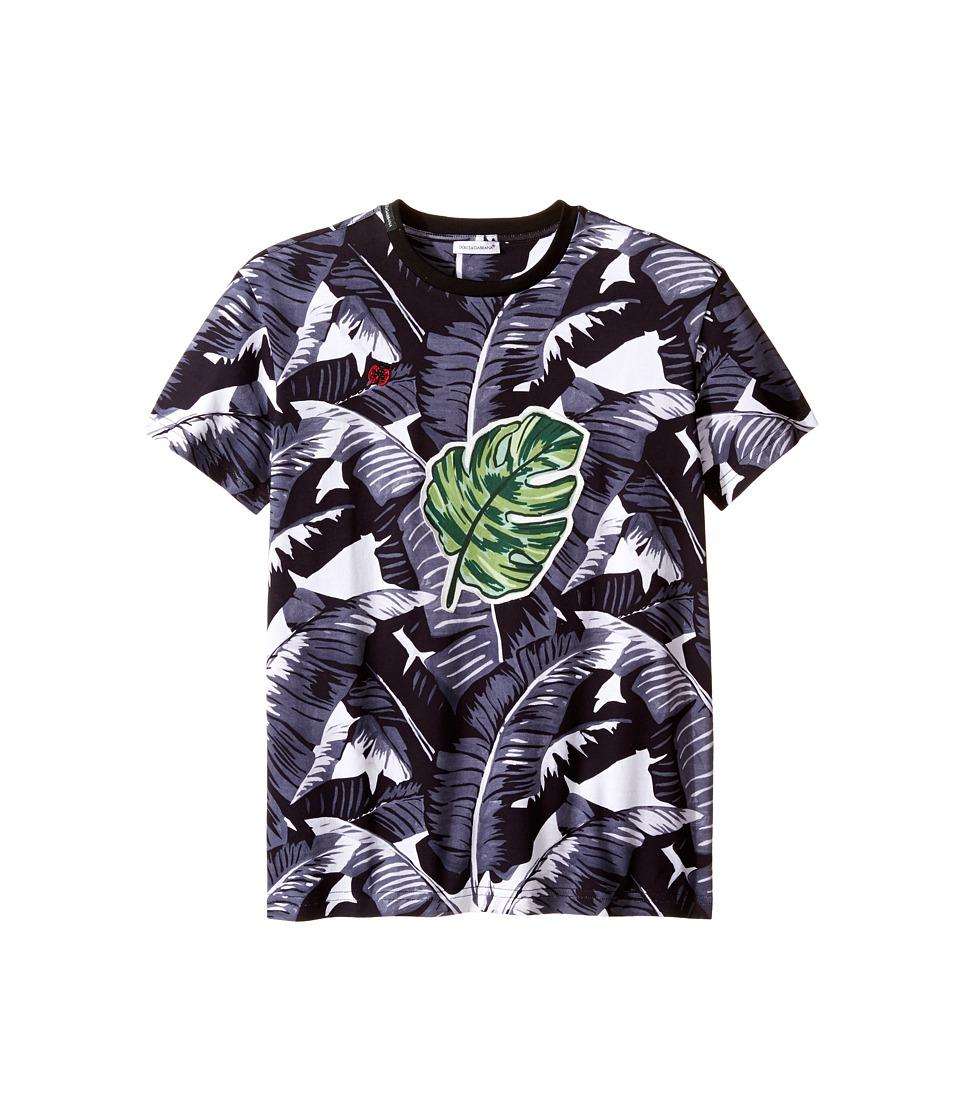 Dolce & Gabbana Kids - Banana Leaf T-Shirt (Big Kids) (Black Print) Boy's T Shirt