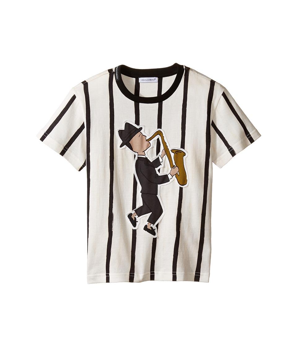 Dolce & Gabbana Kids - Jazz Musician T-Shirt (Toddler/Little Kids) (Striped) Boy's T Shirt