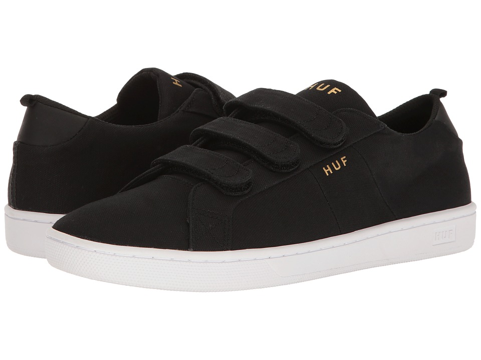 HUF - Boyd (Black Hook and Loop) Men's Skate Shoes