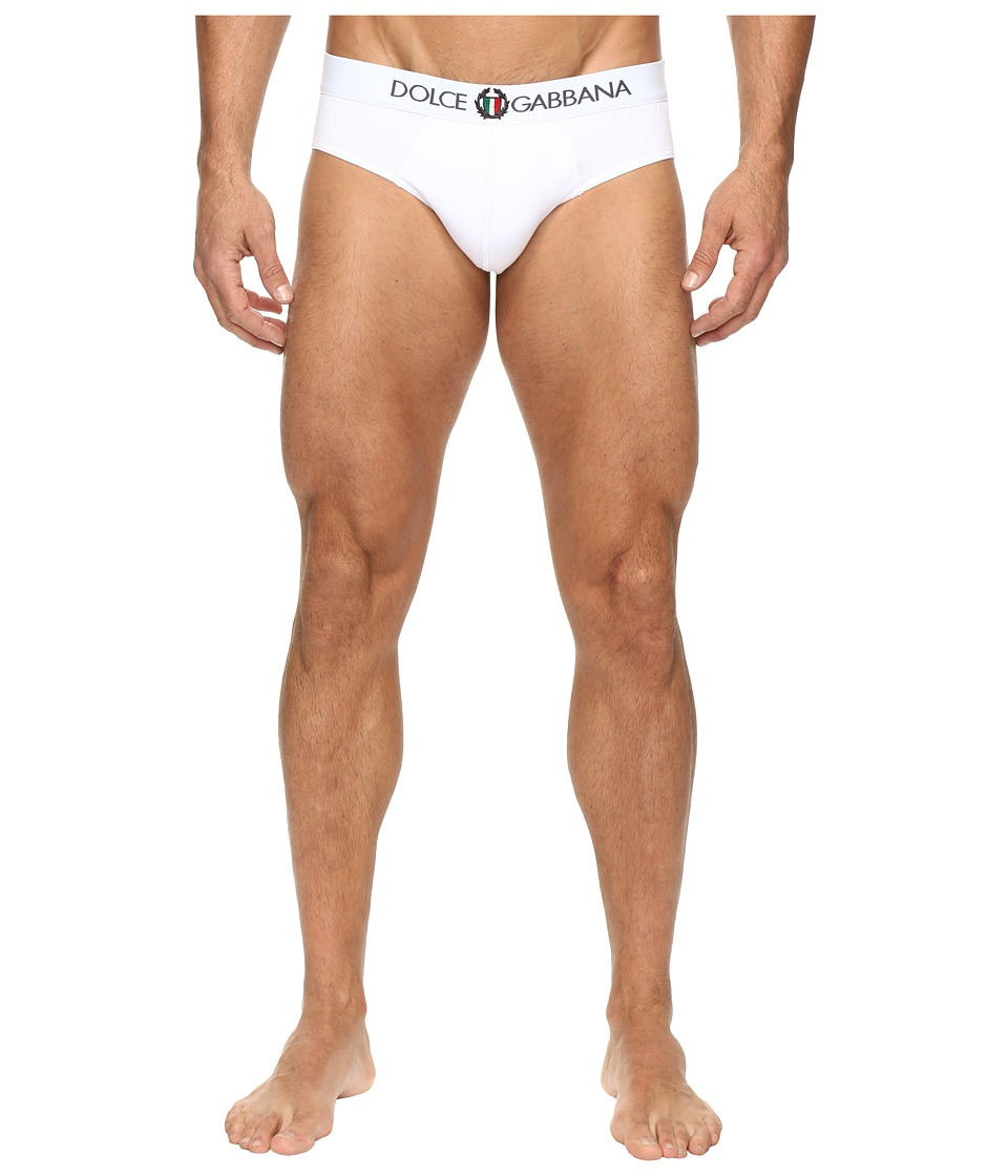 Dolce & Gabbana - Sport Crest Midi Brief (White 1) Men's Underwear