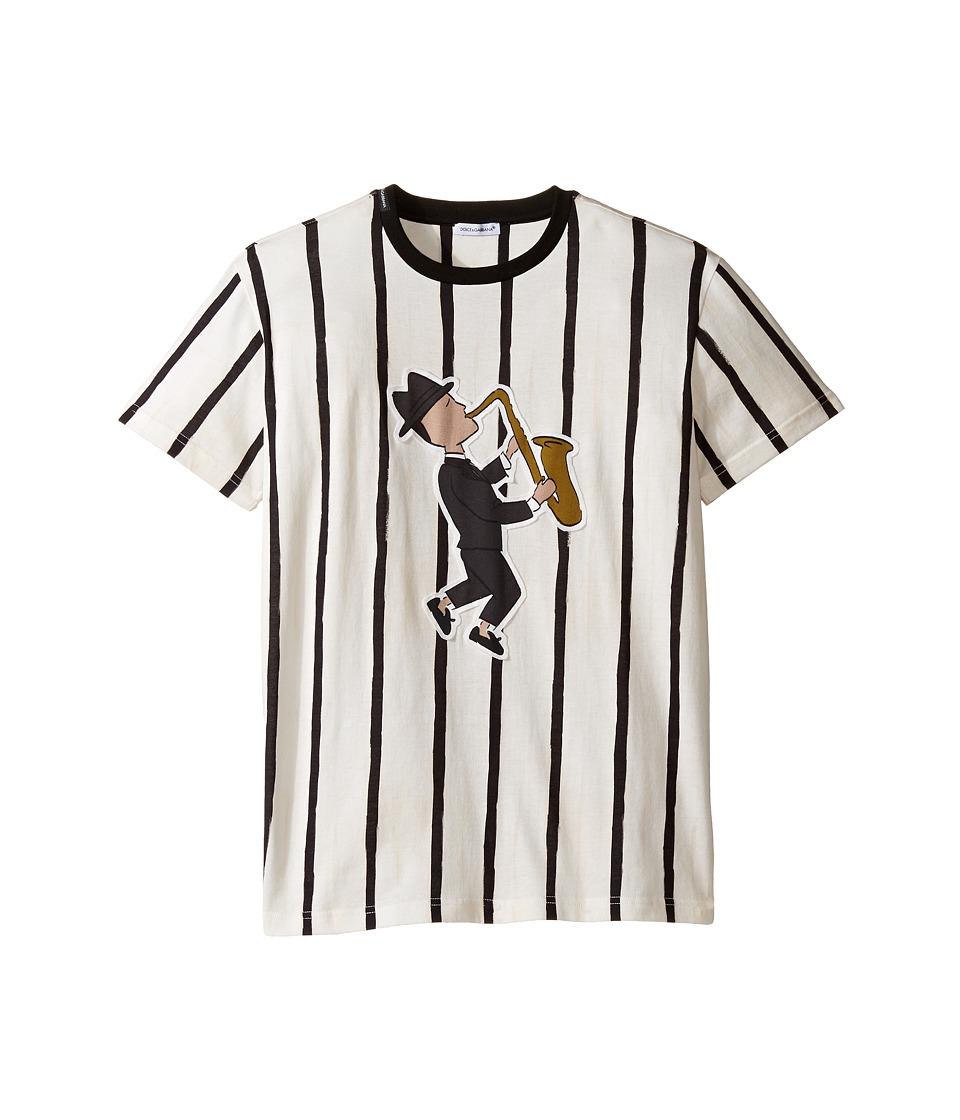 Dolce & Gabbana Kids - Jazz Musician T-Shirt (Big Kids) (Striped) Boy's T Shirt