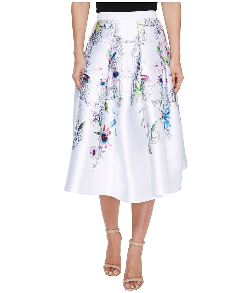 Ted Baker - Petale Passion Flower Full Skirt (Ivory) Women's Skirt