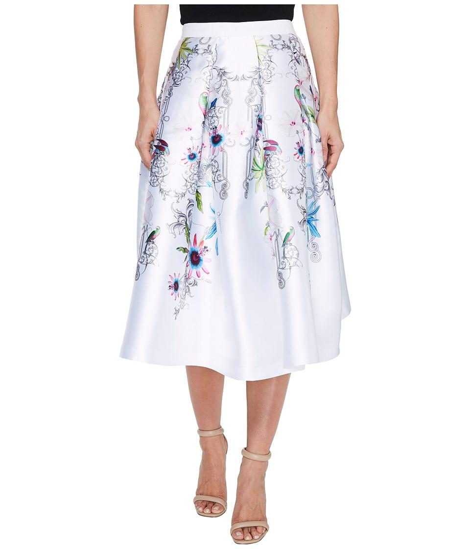 Ted Baker - Petale Passion Flower Full Skirt (Ivory) Women's Skirt