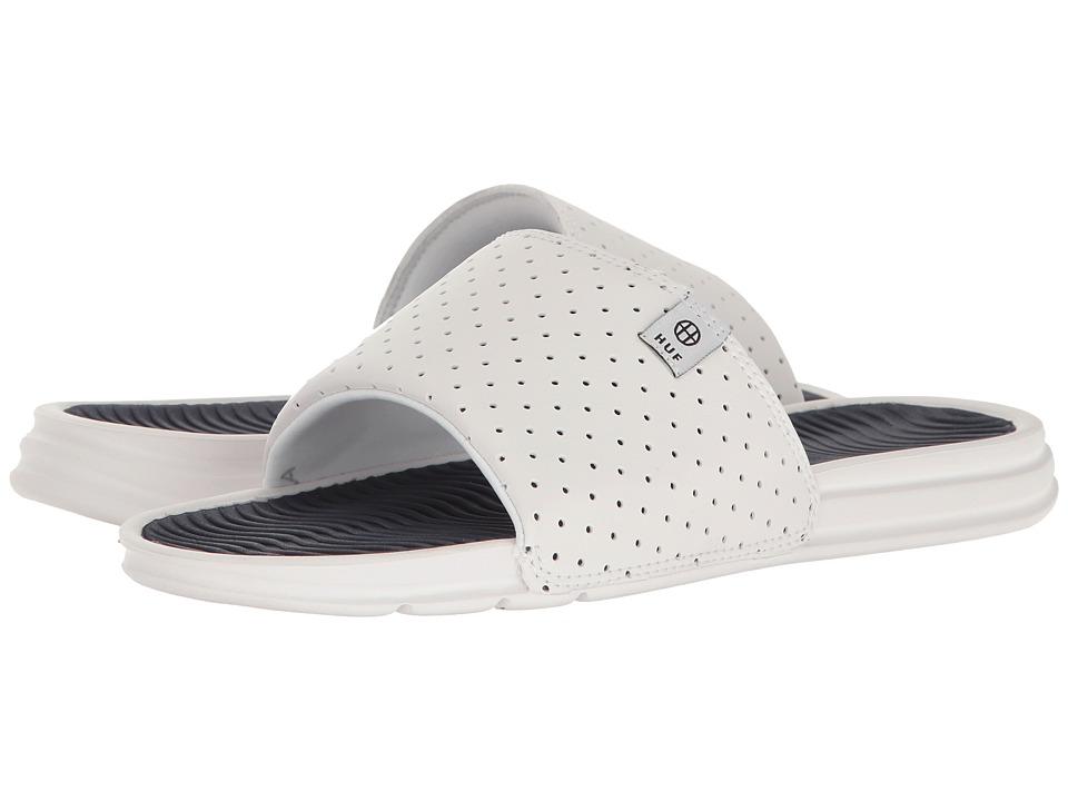 HUF - HUF Slide (White/Navy) Men's Skate Shoes
