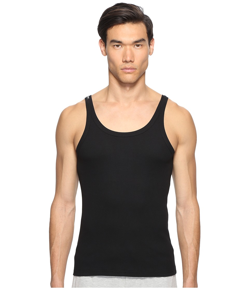 Dolce & Gabbana - Sicily Rib Marcello Tank Top (Black 1) Men's Clothing
