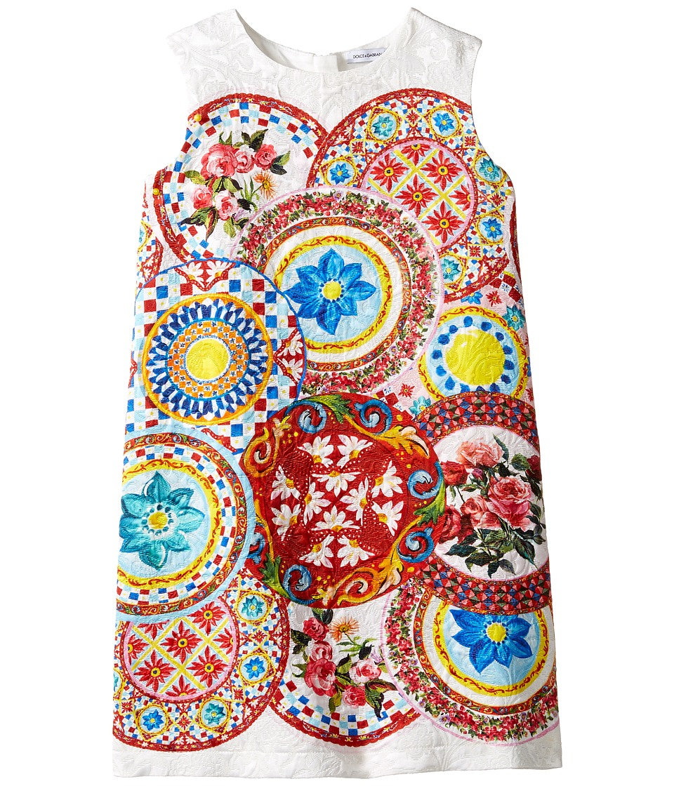 Dolce & Gabbana Kids Mambo Brocade Dress