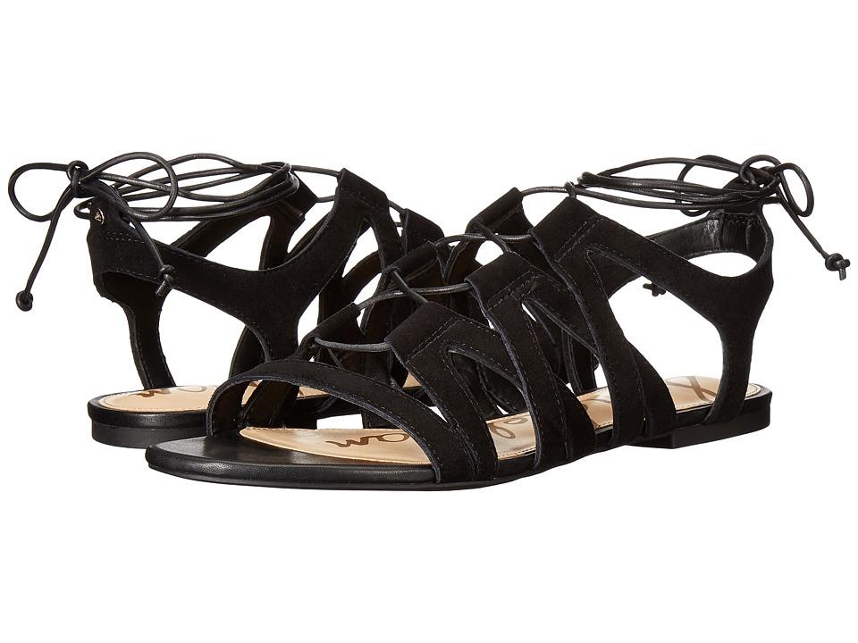 Sam Edelman - Boyden (Black/Diva Suede Leather) Women's Sandals