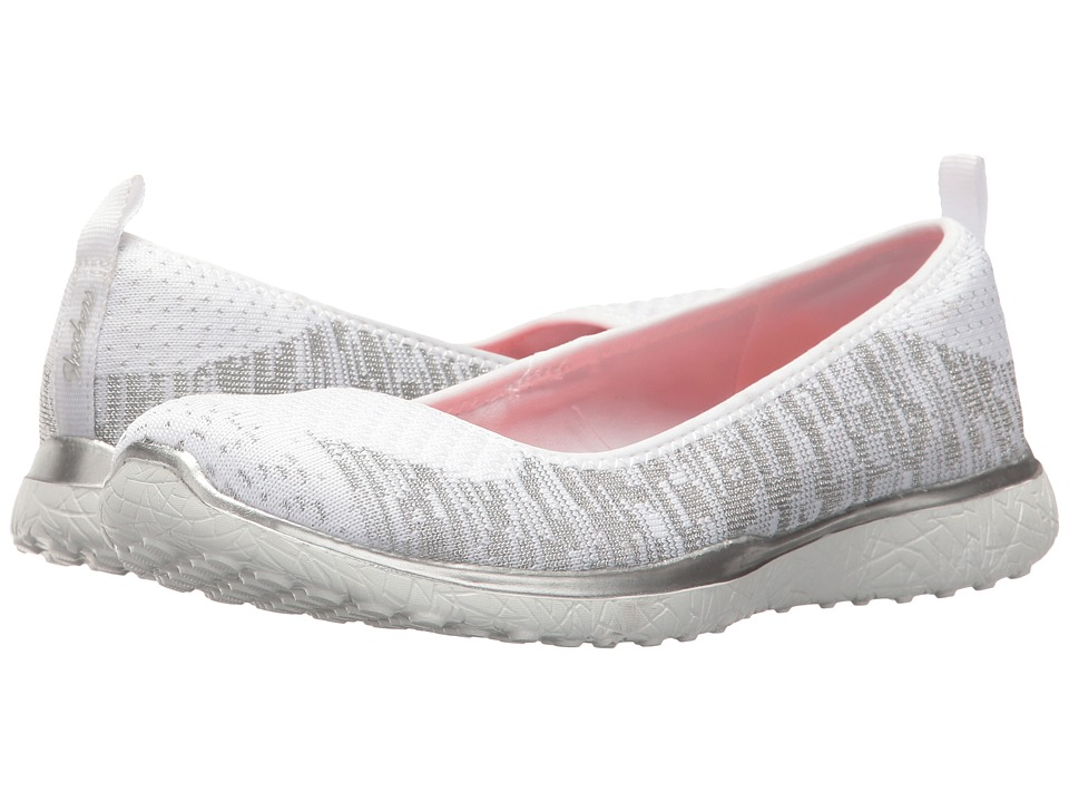 SKECHERS - Microburst - Made-You-Look (White) Women's Slip on Shoes