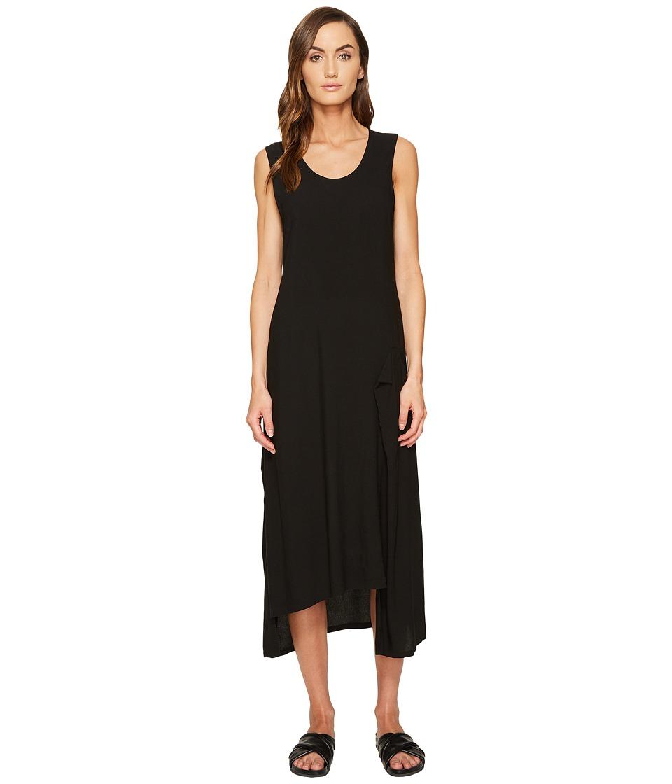 Y's by Yohji Yamamoto - U-Asymmetry Tank Dress (Black) Women's Dress