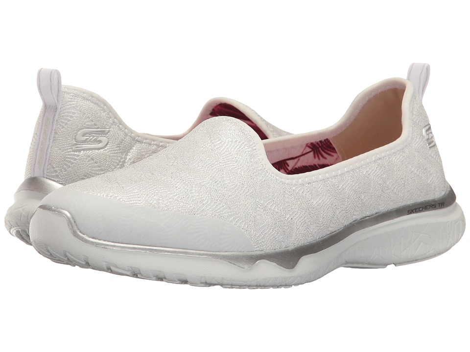 SKECHERS - Studio Burst (White) Women's Slip on Shoes