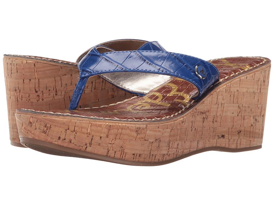 Sam Edelman - Romy (Nautical Blue/Shiny Nile Croco) Women's Wedge Shoes