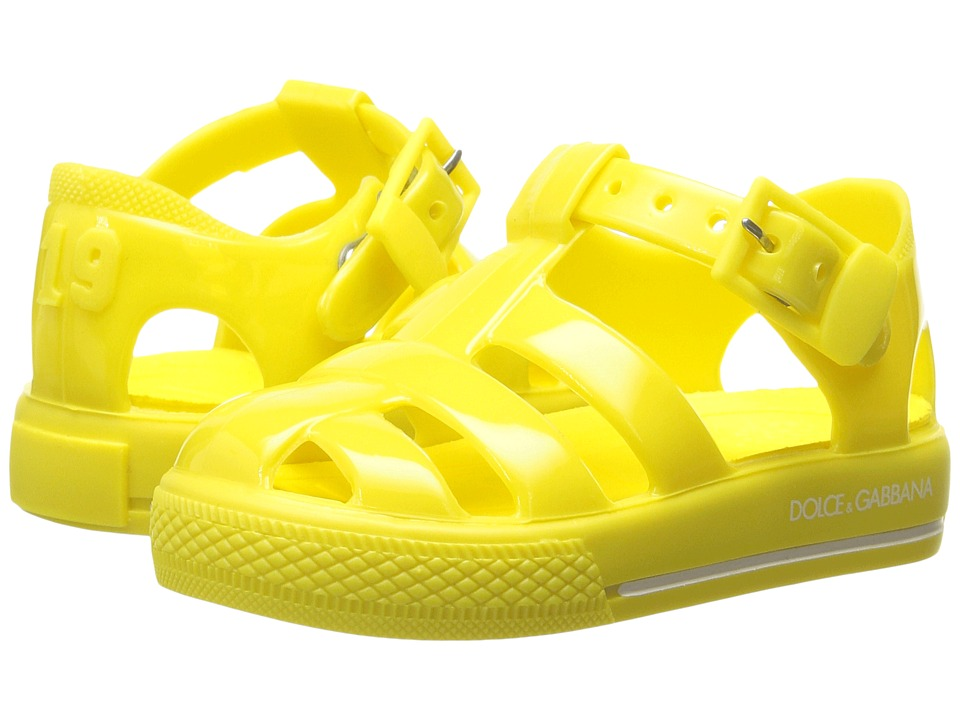 Dolce & Gabbana Kids - Mare PVC Sandal (Infant/Toddler/Little Kid) (Yellow) Kids Shoes