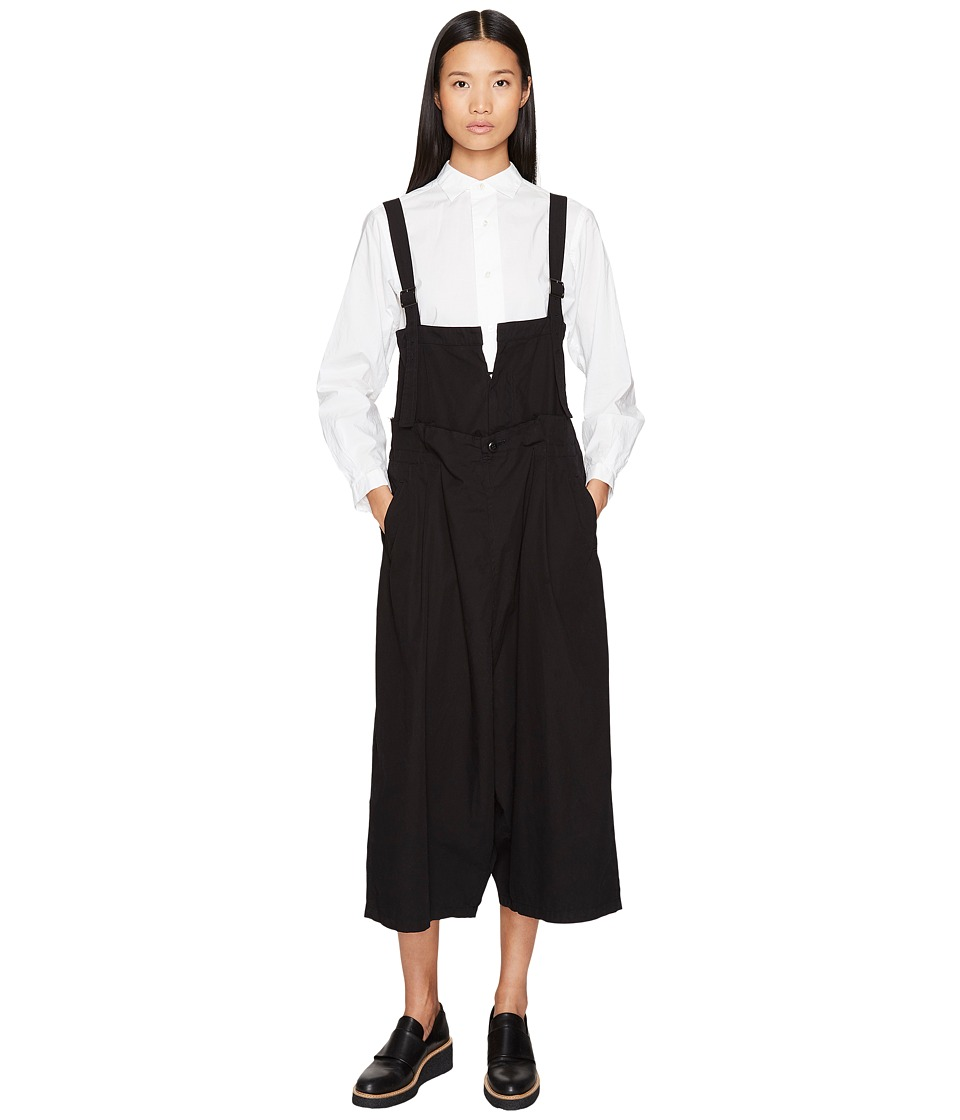Y's by Yohji Yamamoto - A-Tuck Overalls (Black) Women's Overalls One Piece