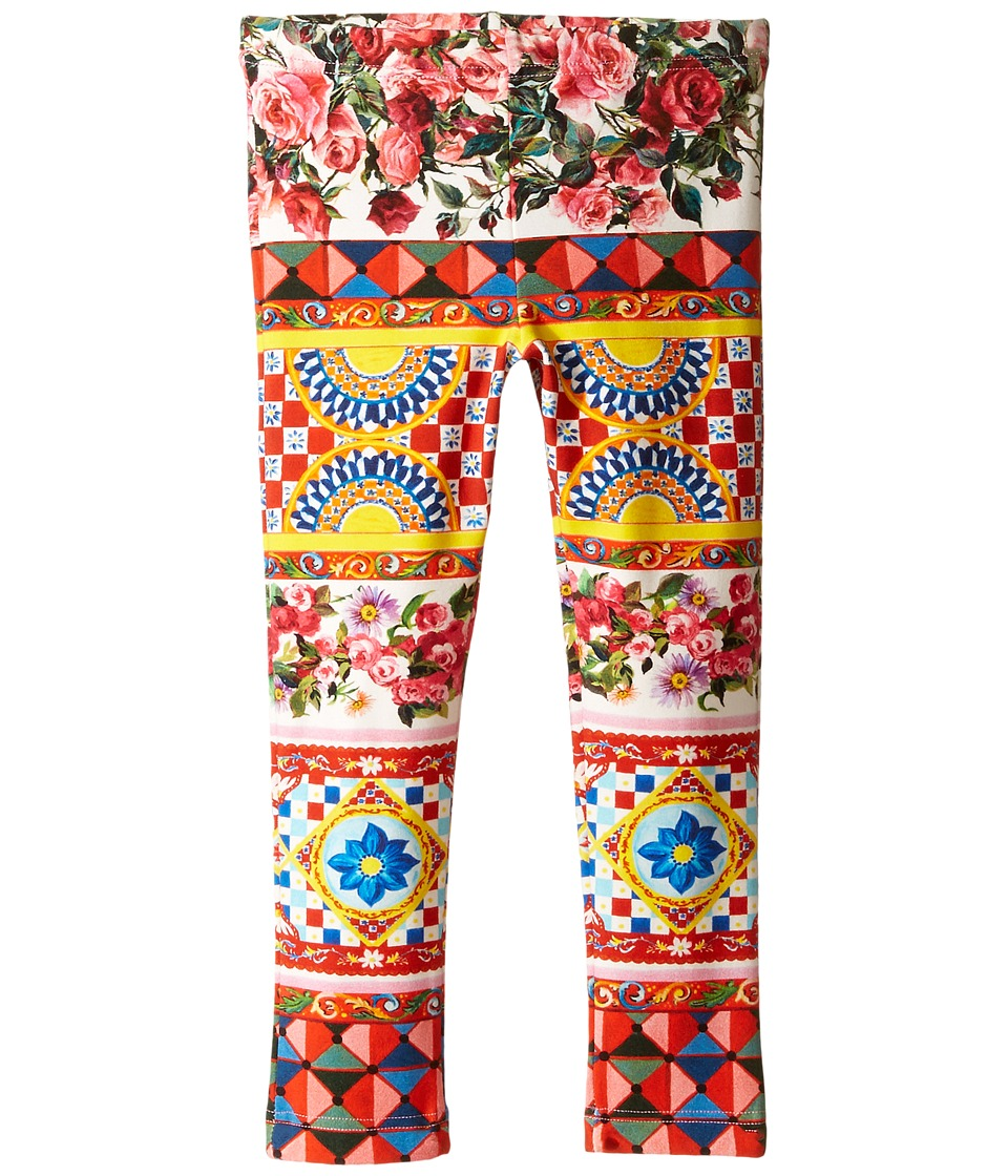 Dolce & Gabbana Kids - Mambo Leggings (Toddler/Little Kids) (Carretto Print) Girl's Casual Pants
