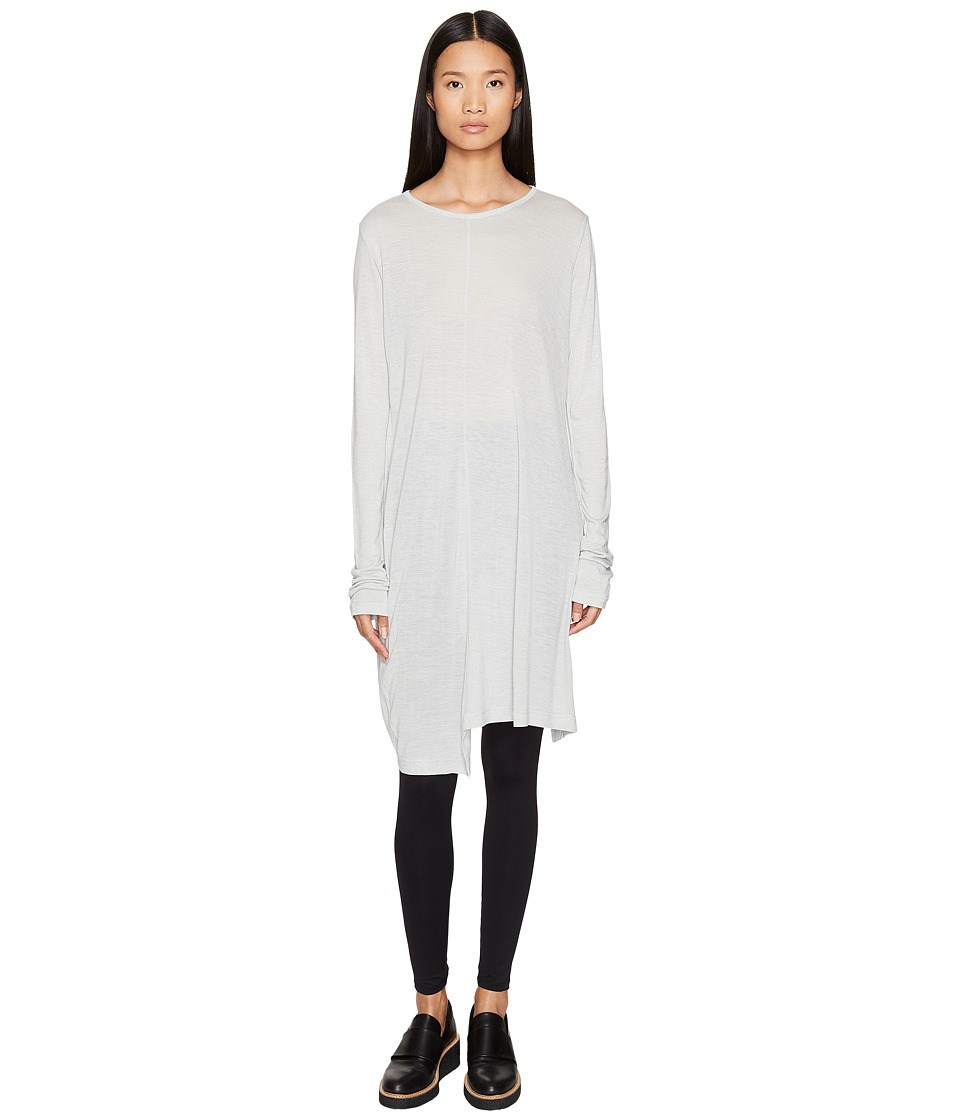 Y's by Yohji Yamamoto - U-Asymmetry Long Sleeve Pullover Tee (Grey) Women's T Shirt