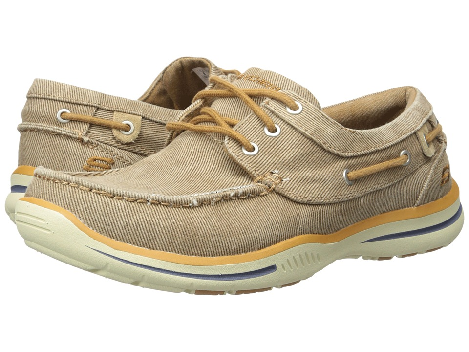 SKECHERS - Relaxed Fit Elected Horizon (Tan) Men's Shoes