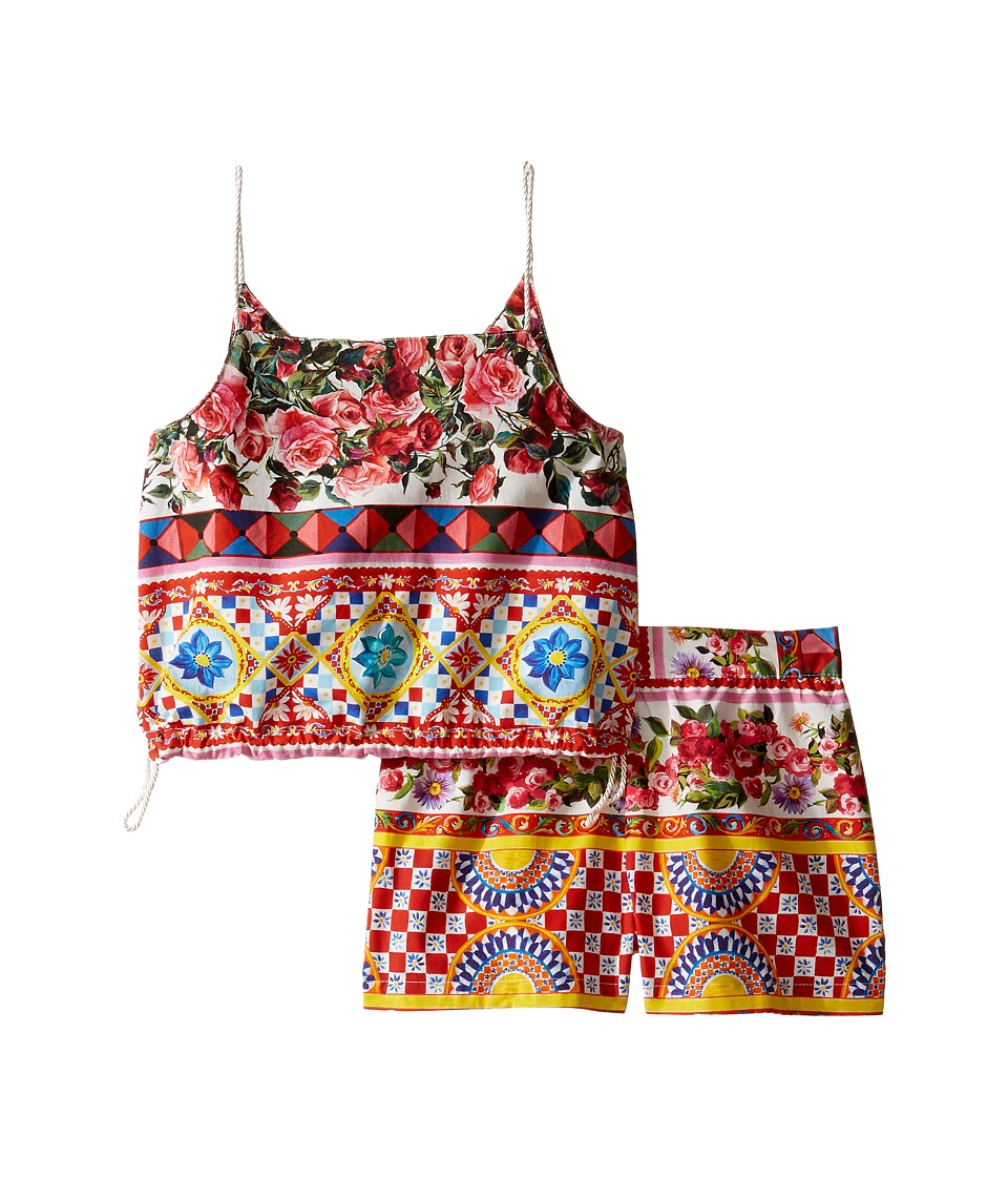 Dolce & Gabbana Kids - Mambo Top/Shorts Set (Toddler/Little Kids) (Carretto) Girl's Suits Sets