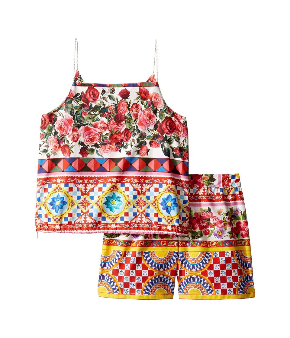 Dolce & Gabbana Kids - Mambo Top/Shorts Set (Big Kids) (Carretto) Girl's Active Sets