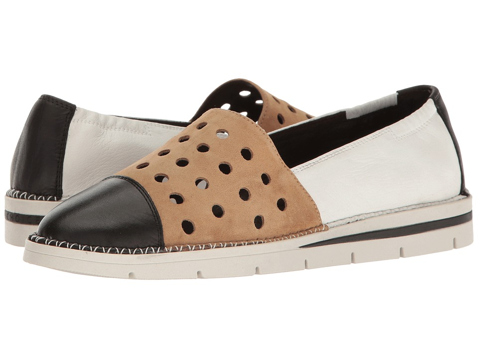 Hispanitas - Chica (Soho Black/Ante Avena/Soho White) Women's Flat Shoes