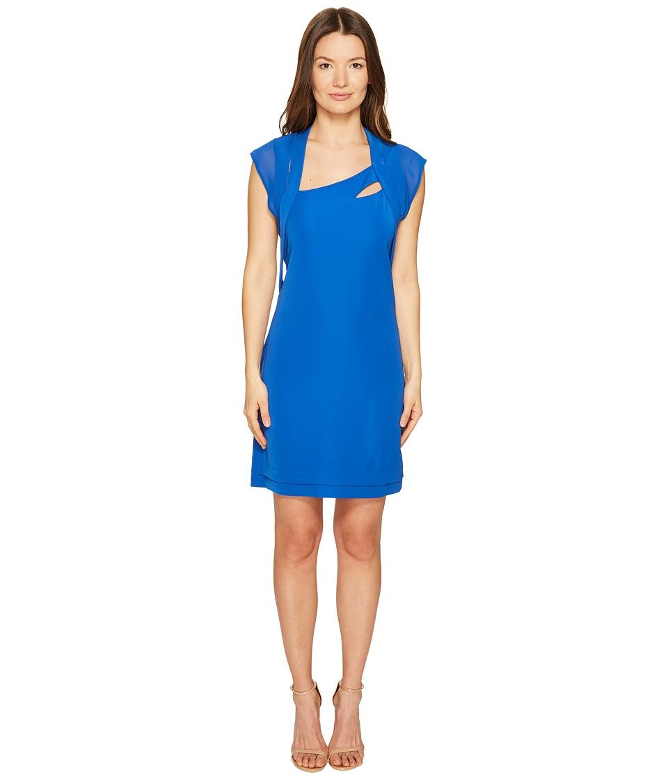 The Kooples - Crepe Chiffon Dress (Blue) Women's Dress