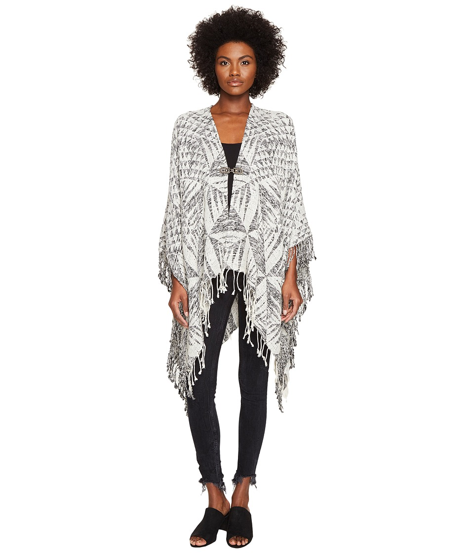 The Kooples - Poncho with Jewel Detail (White) Scarves