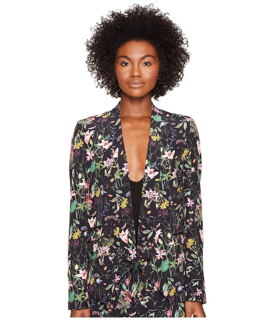 The Kooples - Veste En Viscose Imprimee Folklo (Black) Women's Coat