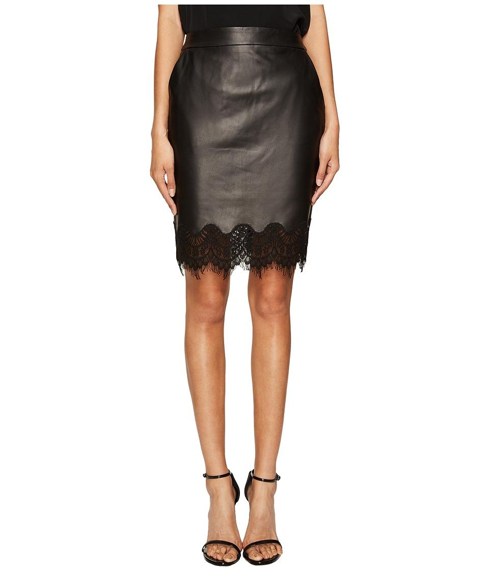 The Kooples - Lamb Skirt Lace (Black) Women's Skirt